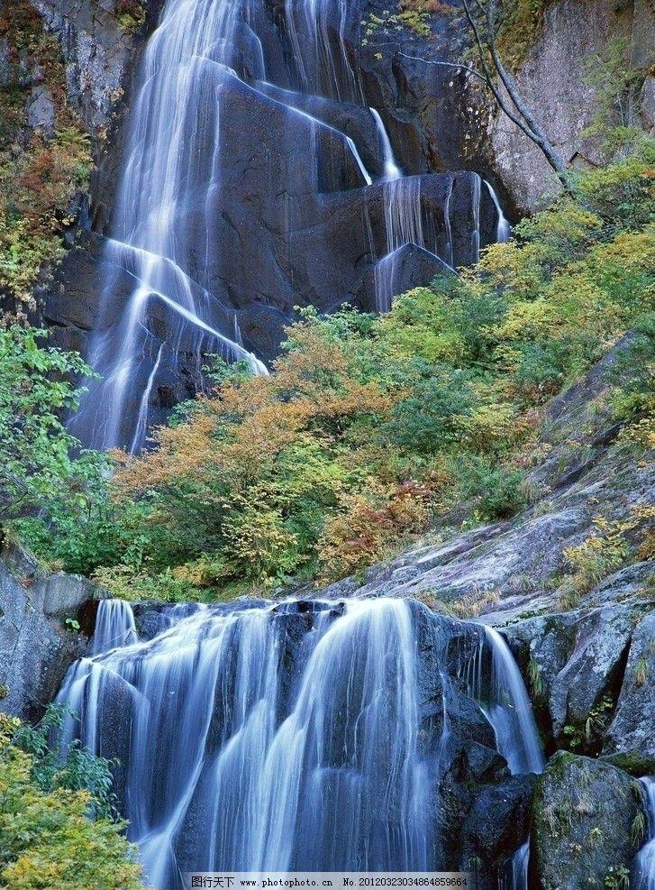 瀑布 高山瀑布 壮观 山石 流水 自然风光 山水 风景 自然风景 自然