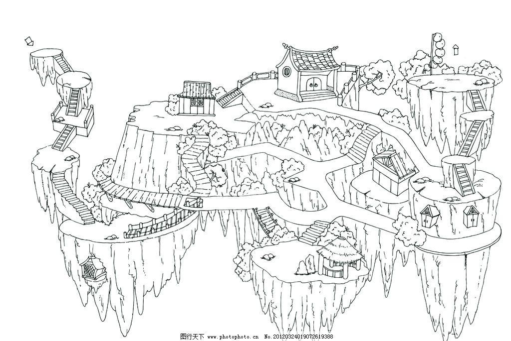 迷宫线稿图片