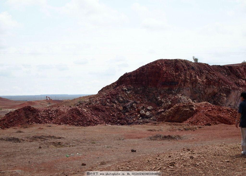 新疆风景 空旷的土地 石堆 红土 新疆五彩滩 自然风景 自然景观 摄影