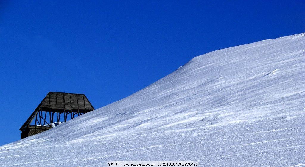 雪山风光 风景 景色 景观 美景 冬季 冬天 高山 山峰 高原