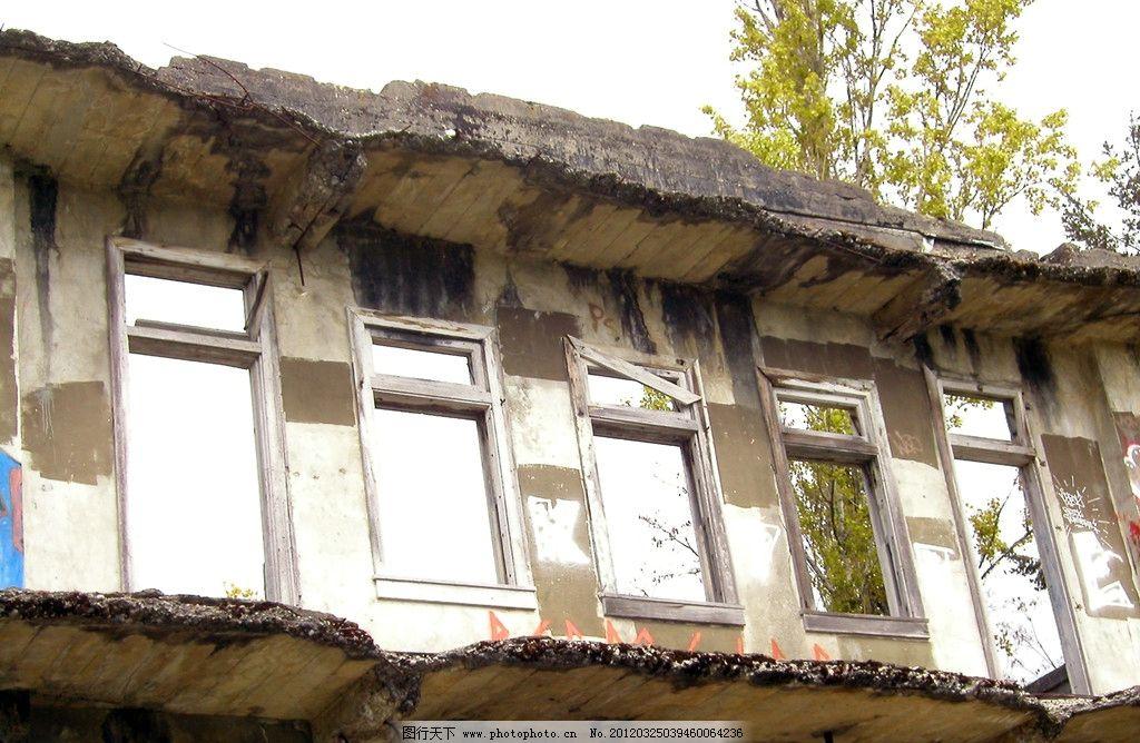 破旧房屋建筑图片