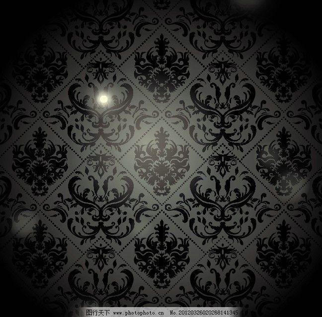 欧式古典底纹 装饰底纹 花纹图案 角花 装饰图案 古典 传统 高贵 底纹