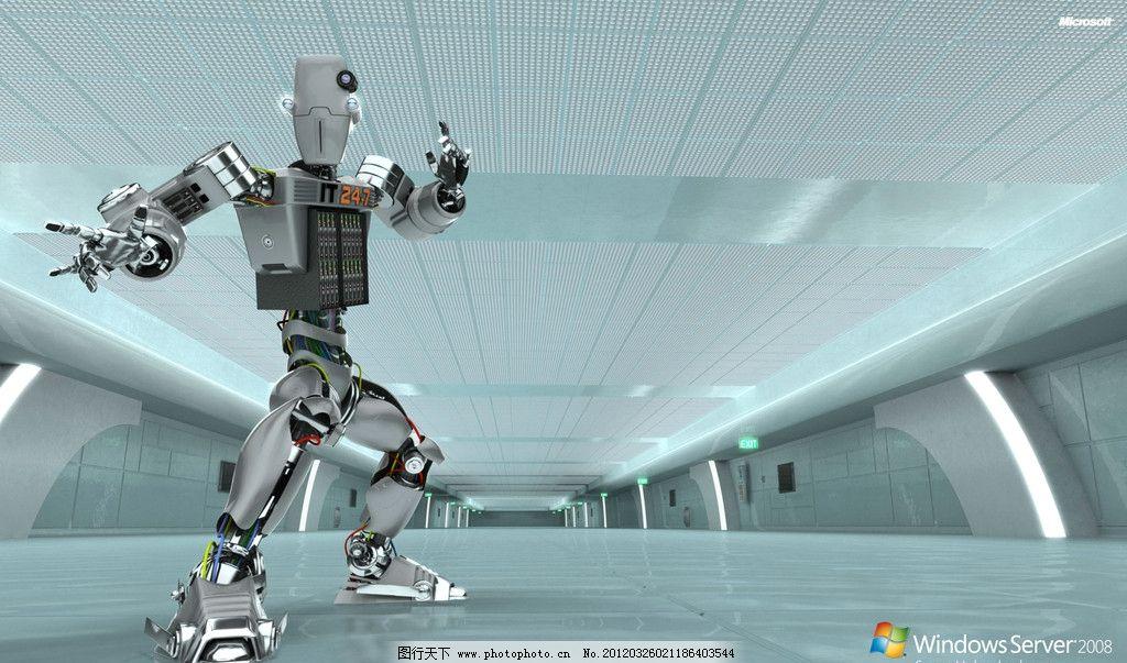 机器人 高科技 金属 质感 室内 桌面 背景 壁纸