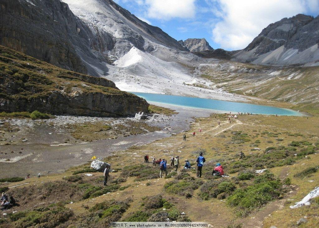 亚丁 高原 香格里拉 湖 山 三神山 藏区 藏族 川西 甘孜 山水风景