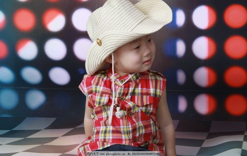 可爱宝宝 宝贝 萌 小孩 帽子 摇滚 男孩 笑 儿子 快乐 童年