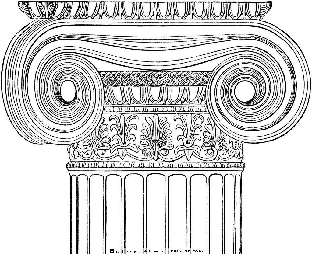 复古钢笔画 复古 钢笔画 欧式 插画 古典绘画 雕塑 欧式柱头 绘画书法