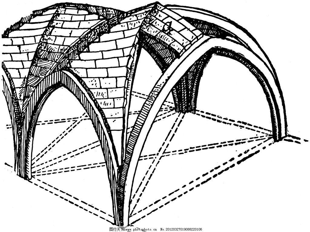 复古建筑结构图