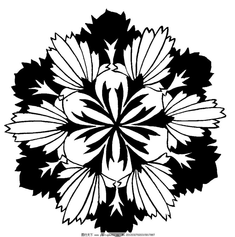 黑白花纹 纹路 装饰纹路