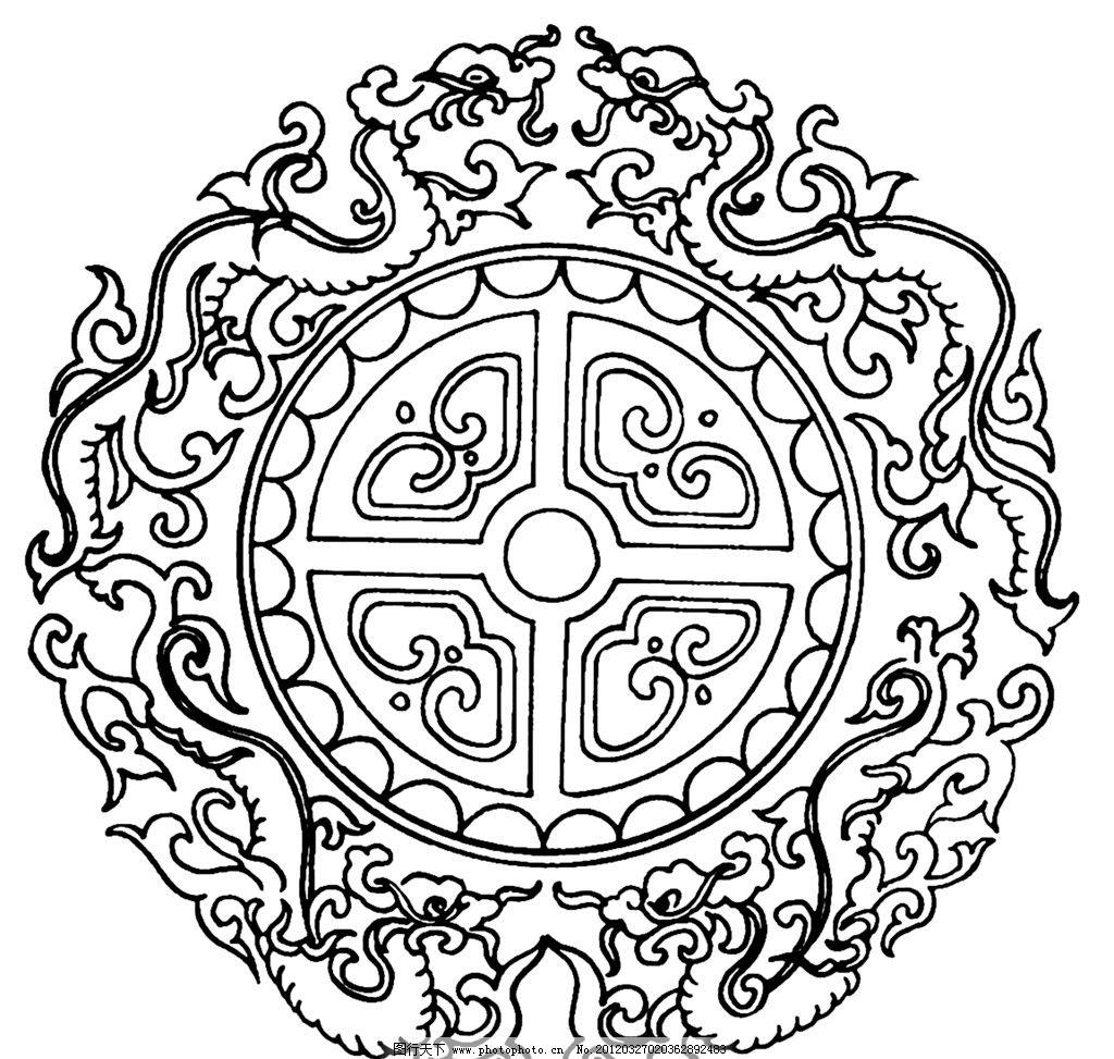 黑白花纹 纹路 装饰纹路 设计 装饰 黑白 底纹 花纹 花边花纹 底纹