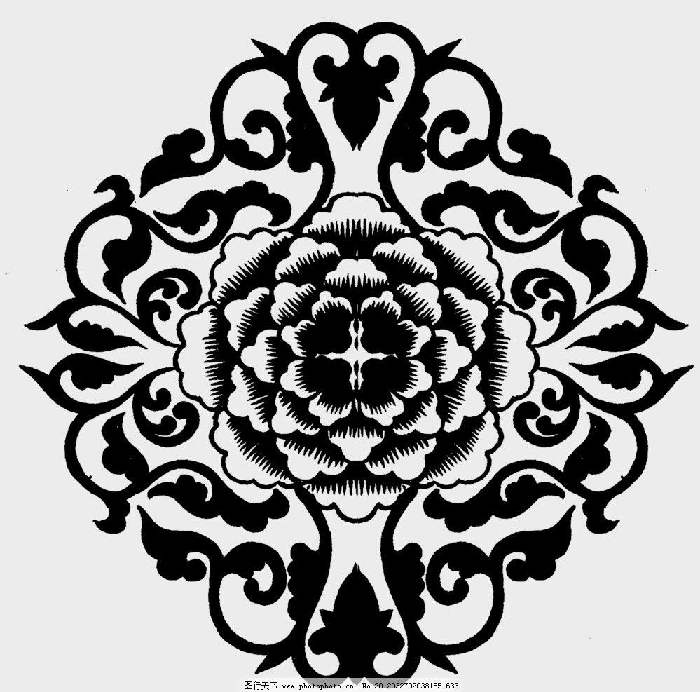 黑白花纹 纹路 装饰纹路 设计 装饰 黑白 底纹 花纹 背景 花 花边花纹