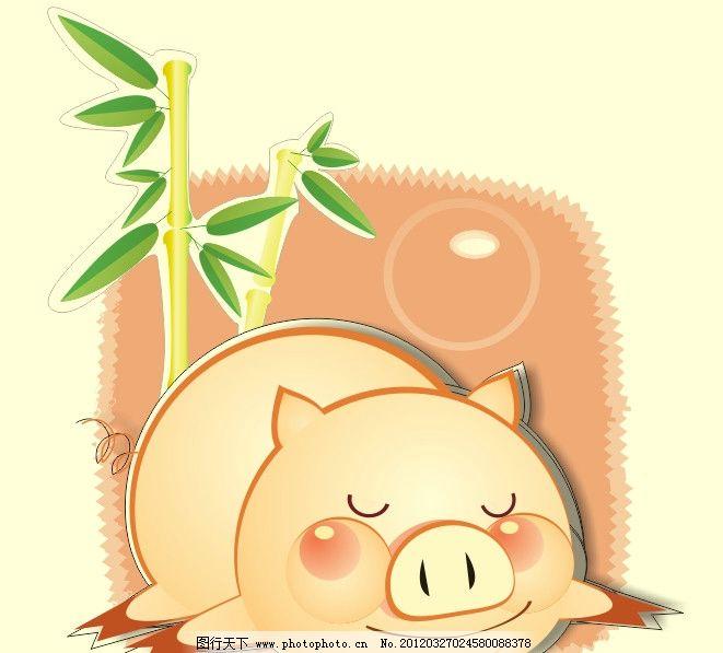 猪猪睡觉 猪 睡觉 泡泡