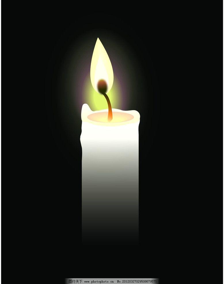 蜡烛矢量图图片