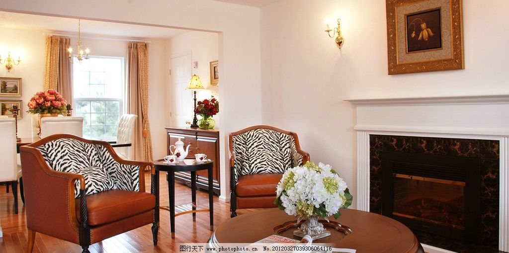 欧式小客厅图片