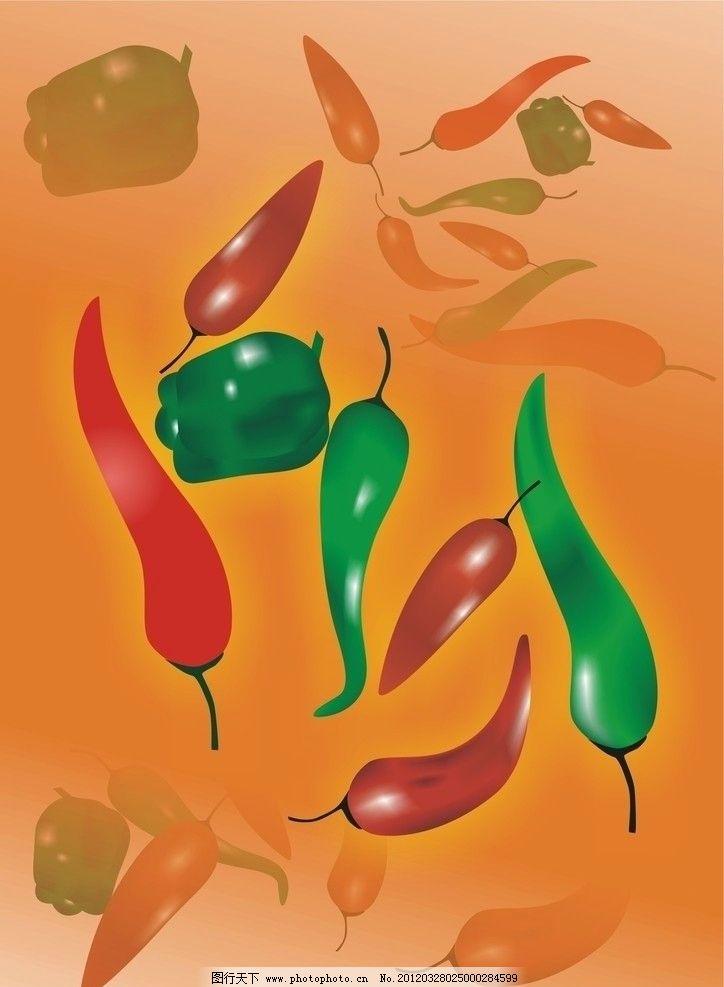 辣椒 红辣椒 青椒 美味 好吃 够辣 蔬菜 生物世界 矢量 cdr