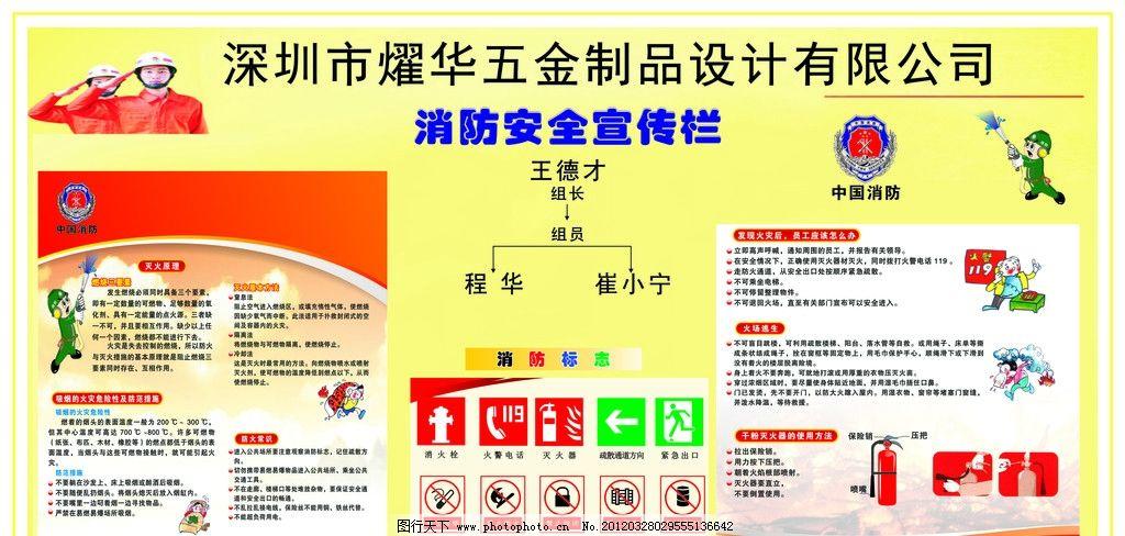 灭火器的使用 消防安全宣传栏 保安 消防员 插图 矢量 灭火常识 海报