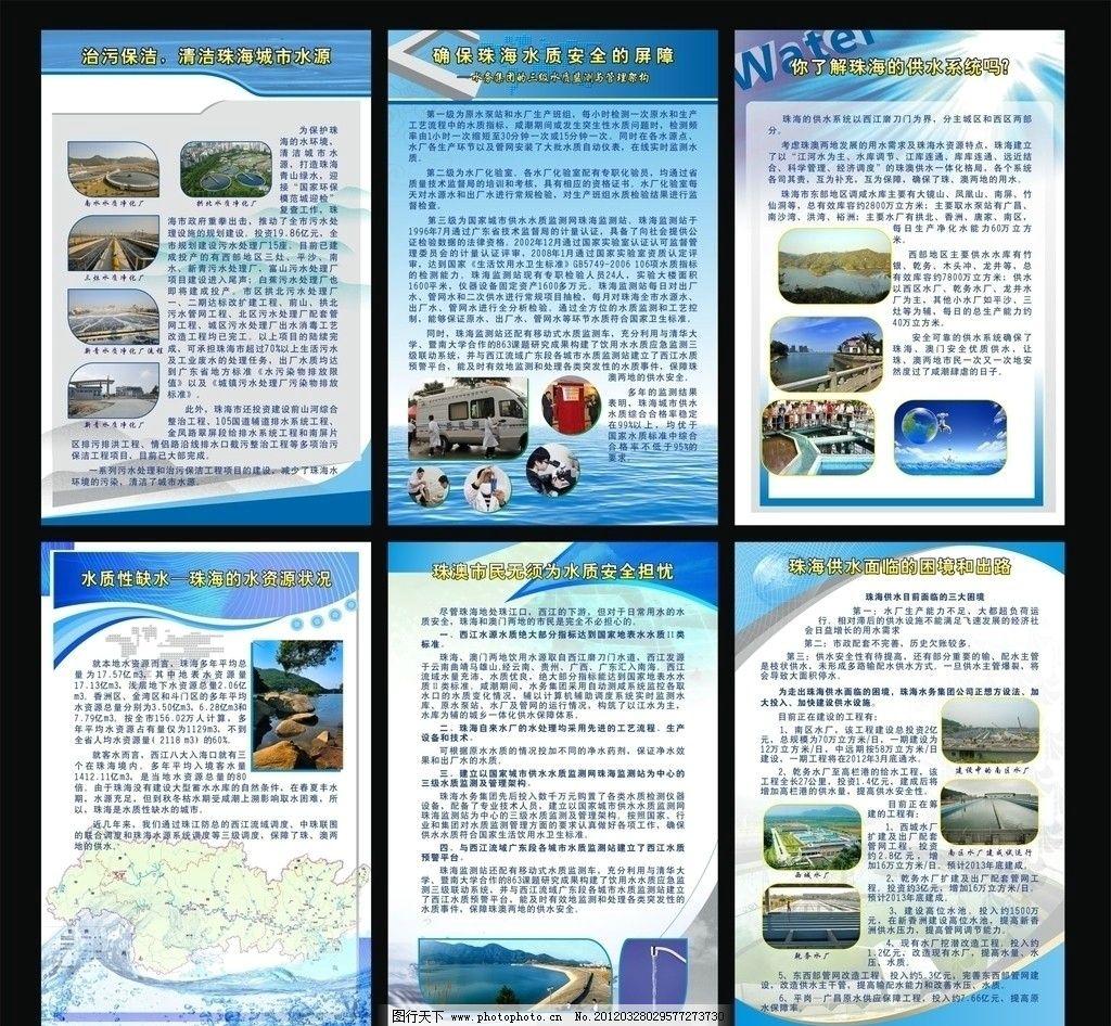 水知识展板宣传 水利 水资源 水务 水源 节约用水 水展板 水宣传