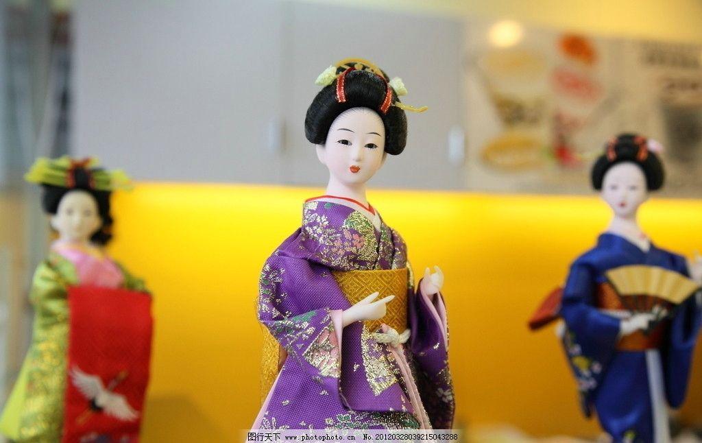 木偶 日本 和服 女子 人偶 工艺品摄影 其他 文化艺术 摄影 350dpi jp