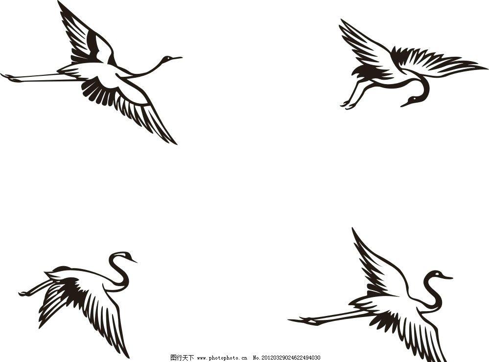 飞的仙鹤简笔画图片大全