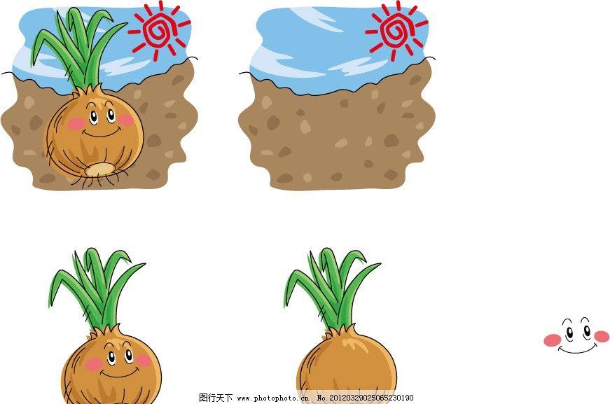土地 手绘 插画 插图 q版 可爱 卡通 表情 符号 营养      图标 健康