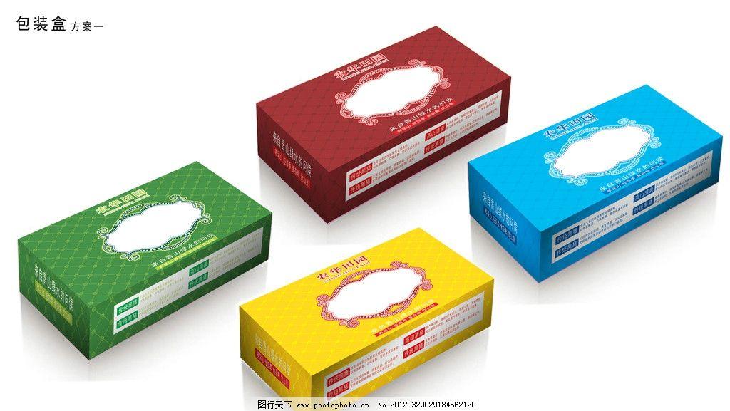 包装盒 包装 盒子包装 刀板 农华田园标 花纹背景