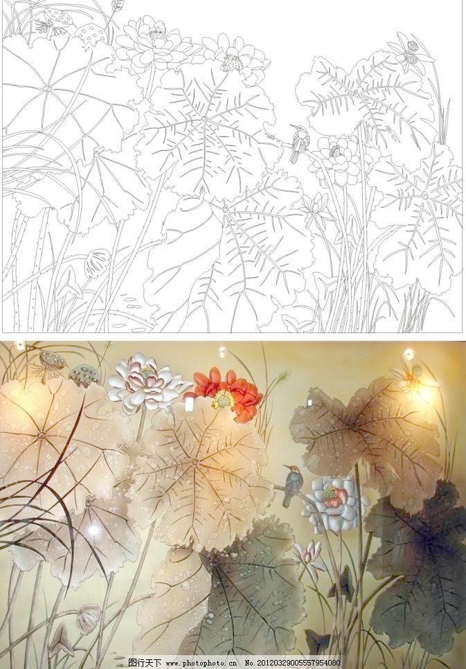艺术玻璃花型囹�b_艺术玻璃矢量图图片