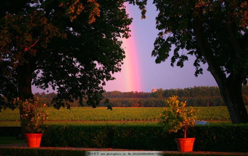 法国葡萄园 法国 庄园 农庄 彩虹 葡萄园 田园风光 自然景观 摄影 72d