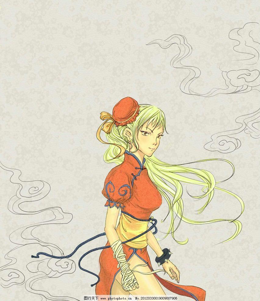 漫画美女 古风 动漫 人物 绘画书法 文化艺术 设计 256dpi jpg