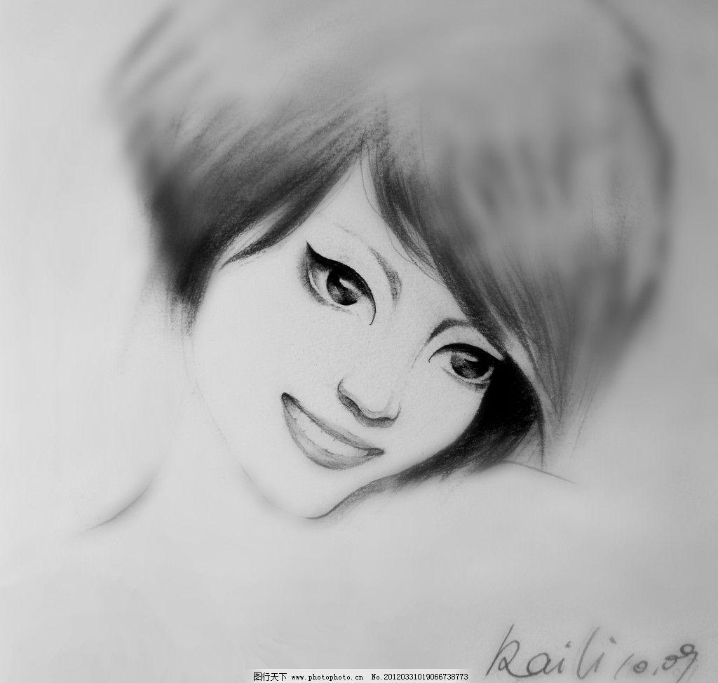 素描 美女图片