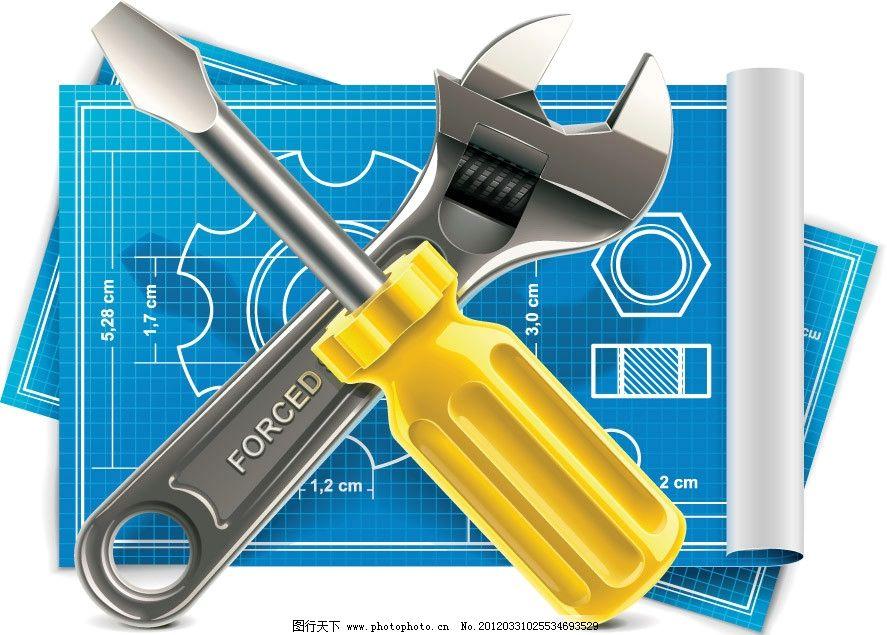 维修工具背景图片