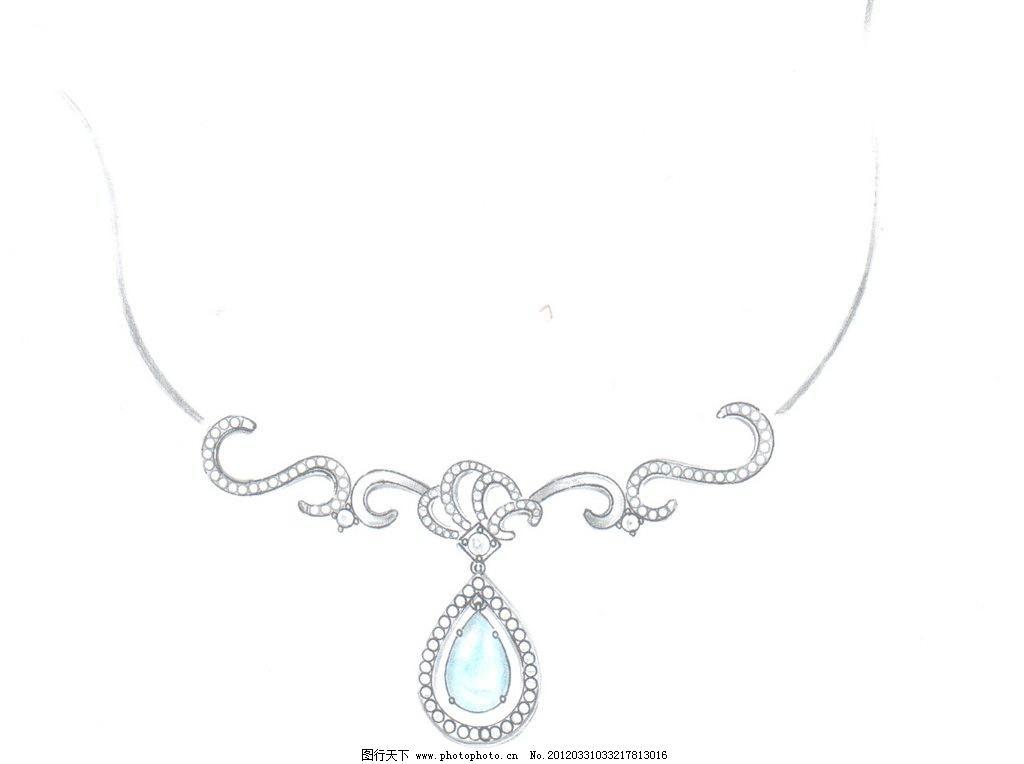 手绘珠宝图片免费下载 绘画书法 文化艺术 项链 手绘珠宝设计素材