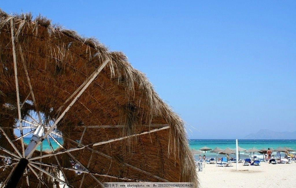 海边度假胜地图片,大海 海洋 风景 风光 景色 遮阳伞