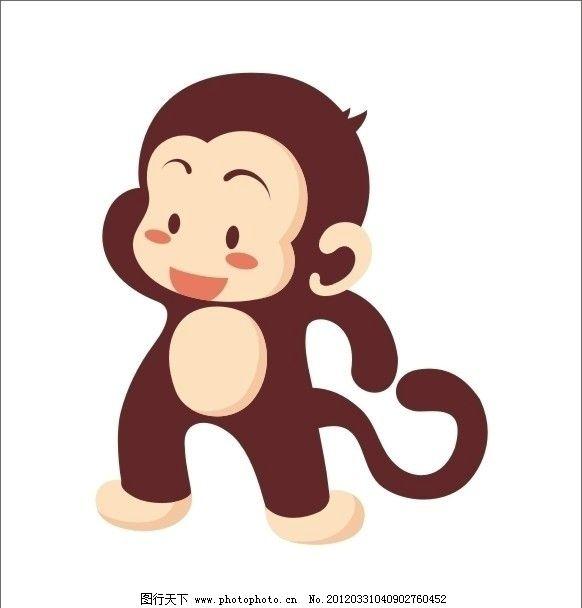 可爱卡通小猴子图片_动画素材